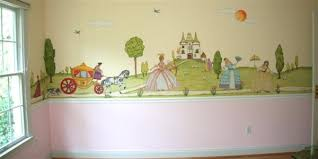 Stick On Wall Fabric Stick On Wall Mural Camelot Princess Castle Cinderella