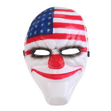 all white halloween mask outpostcity payday 2 clown mask all 4 characters