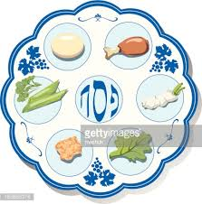 what s on a seder plate passover seder plate vector getty images