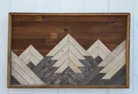 wood mountain wall reclaimed wood wall mountain home decor in downtown west