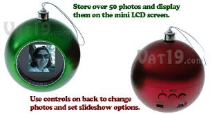 digital photo ornament display 50 photos on the ornament s mini lcd