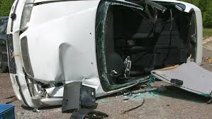 crashed car on the road fatal car accident stock footage video