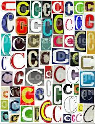 multicolor single letter c c printable digital single letter