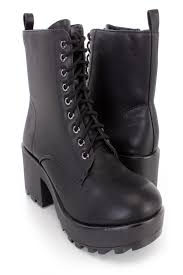 lace up motorcycle boots black lace up chunky heel combat boots faux leather