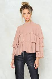ruffle blouse my tiers ruffle blouse shop clothes at gal