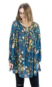 rayon blouse wisconsin rayon floral babydoll shirt dress in faded teal