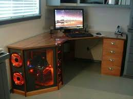 Computer Built Into Desk Remarkable Custom Computer Desk Ideas Office Decorating