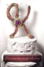 k cake topper rustic twig monogram letter wedding cake topper by theoriginaltwig