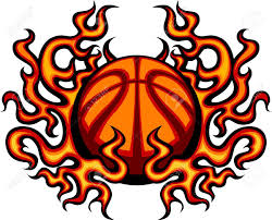 basketball template with flames image royalty free cliparts