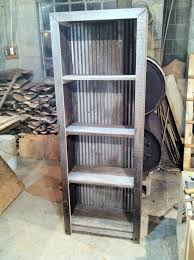 corrugated metal and barn wood shelf plans wood bookshelves