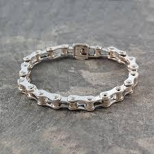 mens silver bracelet chain images Bike chain bracelet jpg