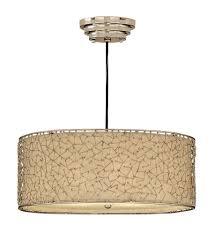 Drum Pendant Light Fixture Uttermost 21154 Brandon Silver 3 Light Hanging Shade Ceiling