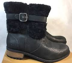 s ugg australia blayre boots ugg australia blayre ii boot 1008220 black leather shearling