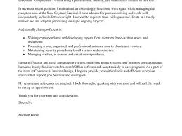 gorgeous design cover letter receptionist 2 best examples cv