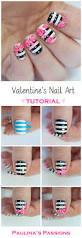 valentines roses nail art tutorial by paulina u0027s passions nail