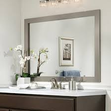 framed bathroom mirror ideas mirror frame ideas bathroom pertaining to decorations 3