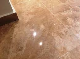 repairing scratches on a polished travertine floor stone
