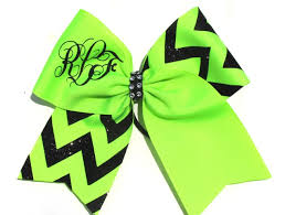personalized bows custom personalized monogrammed initial cheer cheerleading