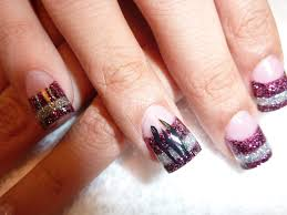 go panthers chic nail styles