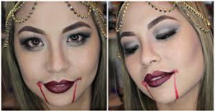 halloween vampire makeup look smokey eye w dark red lips youtube