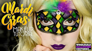 cheap mardi gras masks mardi gras mask makeup tutorial whcdoessfx ft caitlyn