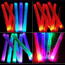 light sticks 12pcs lot single color led foam stick customized logo glow sticks