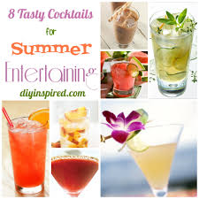 Summer Lunch Ideas For Entertaining - eight tasty cocktail recipes for summer entertaining cocktail