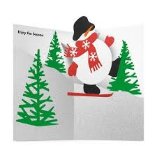 moma christmas cards skiing snowman cards in color christmas