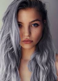 salt and pepper hair with lilac tips how rad is this purple gray color beauty from brit co
