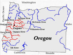 map of rivers in oregon map travel holidaymapq