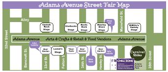 Illinois State Fairgrounds Map by Adams Avenue Street Fair San Diego Adams Avenue Business Association