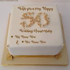 50th wedding anniversary greetings write parents name on 50th wedding anniversary wishes cake pics