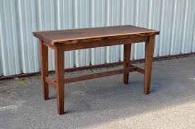 counter height work table live edge walnut work table corey morgan