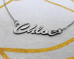 Customized Name Necklace Customize Name Necklace 15 Fonts Style To Choose Customize