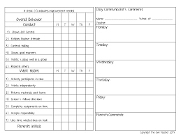 student daily report template reporting behavior in the classroom the owl