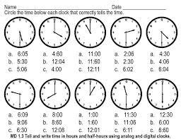 time worksheets telling time worksheets o u0027clock and half past