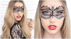 snapchat inspired lace mask easy halloween makeup
