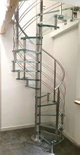 spiral staircase helical circular glass steps spiro