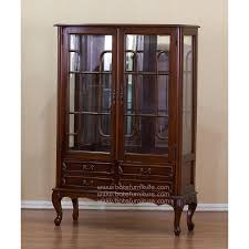 Wall Mounted Curio Cabinet Furniture Elegant Mahogany Curio Cabinets With Glass Door And