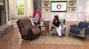 Qvc Recliner Covers Sure Fit Deluxe Waterproof Non Skid Back Furniture Cover Loveseat