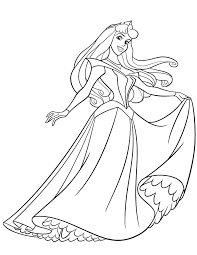 princess aurora coloring pages getcoloringpages