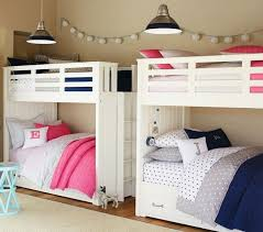 Antique White Bunk Beds Brown Boy And Shared Room Color Combined With Vintage White