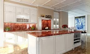 Red Kitchen Countertop - picturesque red marble kitchen countertops surprising kitchen design