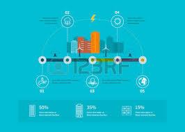 House Flat Design Ecology Illustration Infographic Elements Flat Design City