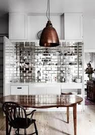 mirror tile backsplash kitchen metallic tiled backsplash in b w kitchen home decor