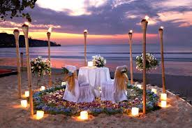intimate torches romantic dinner at jimbaran beach around jimbaran