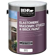 behr premium 5 gal elastomeric masonry stucco and brick paint