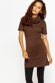 roll neck short sleeve jumper dress just 5