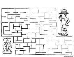 Coloriage labyrinthe jeux 17  JeColoriecom