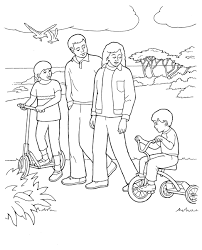 free lds clipart to color for primary children lds coloring